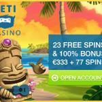 Yeti casino: vreugde en opwinding maar ook betrouwbaar